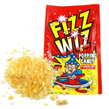 Fizz Whiz Popping Candy - Strawberry - 4 Packs