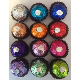 Individual Ferrero Rocher Chocolates in Custom Colours