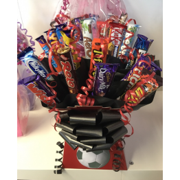 Chocolate Bar Bouquet in Football Team Colours