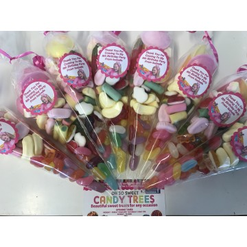 kids party bag 6 Big Pre Filled Party Cones Pick /'N/' Mix Free Sweet Paper Bags
