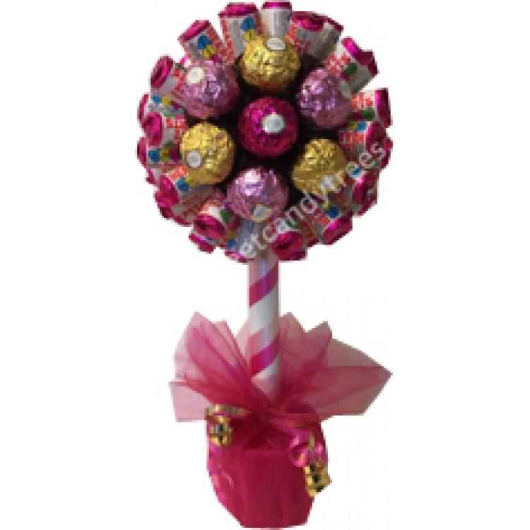 Love Hearts & Ferrero Rocher Flower Tree
