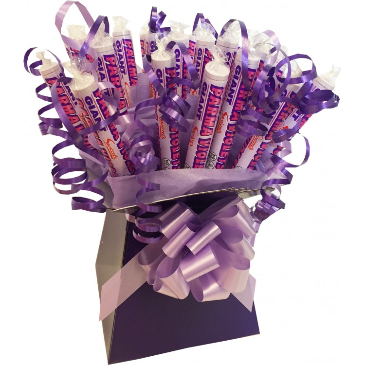 Giant parma violets box bouquet negle