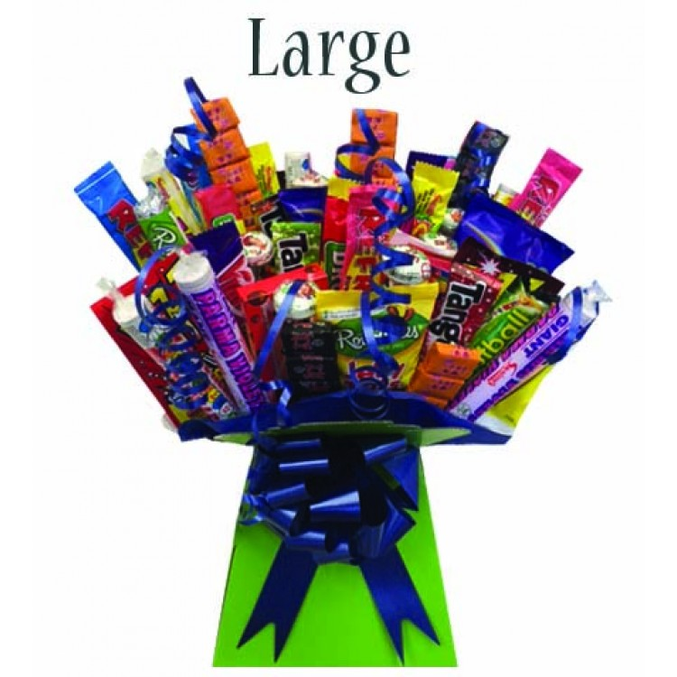 Retro sweets box bouquet