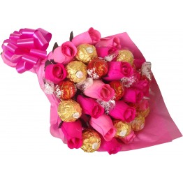Lindor & Ferrero Rocher Rose Bouquet