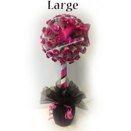 Hot Pink & Black Love Hearts Sweet Tree