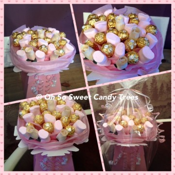 Ferrero Rocher & Marshmallow Chocolate Box Bouquet