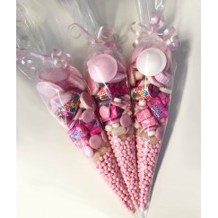 Pink Themed Sweet Cones With Millions