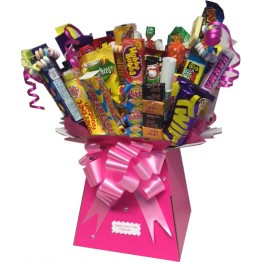 Retro Sweets & Chocolate Bar Bouquet