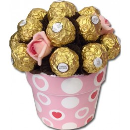 Ferrero Rocher Flower Pot