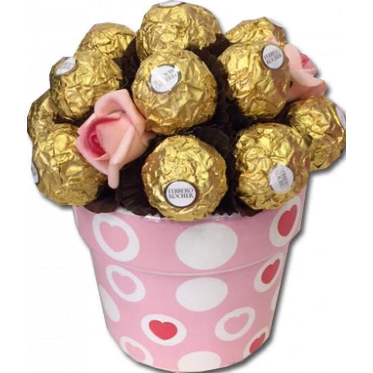 Ferrero Rocher Flower Pot